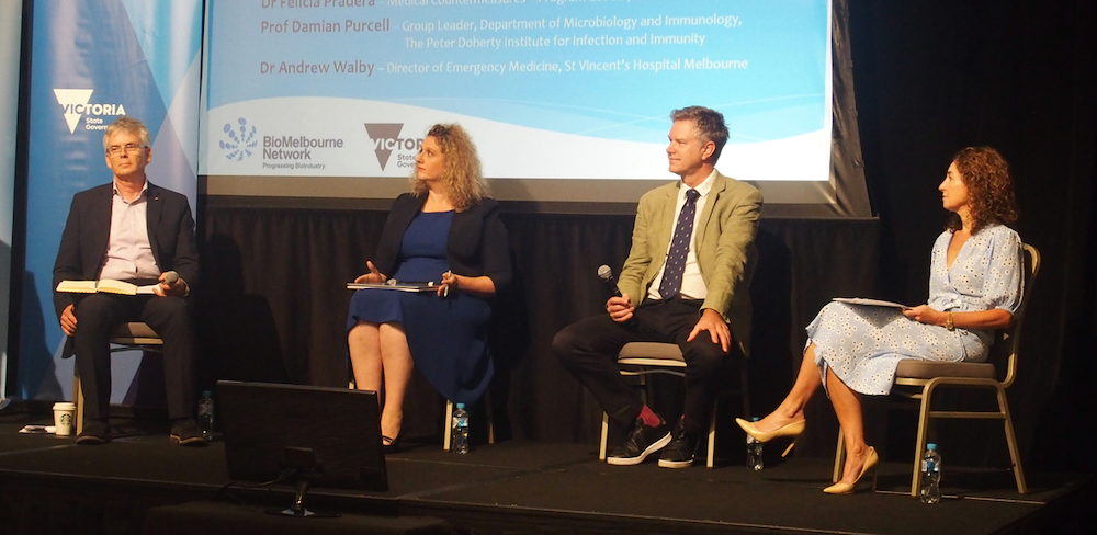 L-R: Dr Damian Purcell, Dr Felicia Pradera, Dr Rob Grenfell & Dr Andrea Douglas